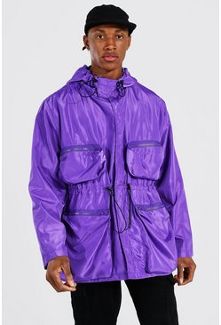 Multi Pocket Cagoule, Purple Фиолетовый