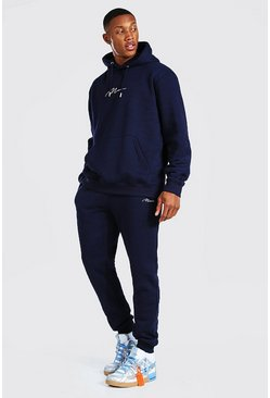 Navy Man Signature Regular Hooded Tracksuit