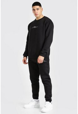 Sweat et pantalon de survêtement - MAN, Black noir