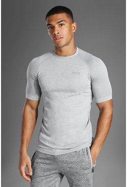Grey marl grey Man Active Seamless T Shirt