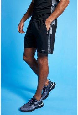 Black Man Active Tonal Short