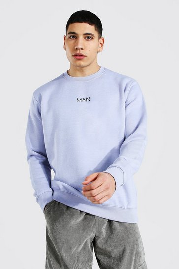 Lilac purple Original Man Crew Neck Sweatshirt