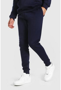Navy marinblå Tall - Basic Joggers i slim fit