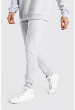Grey marl grå Tall - Basic Joggers i skinny fit