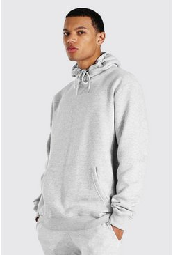 Tall Basic Regular Fit Hoodie, Grau meliert grau