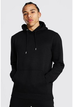 Tall Basic Regular Fit Hoodie, Schwarz