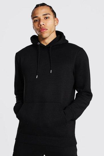 Black Tall Basic Regular Fit Hoodie