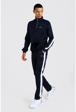 Tall Man Funnel Neck Tricot Tracksuit, Navy Тёмно-синий