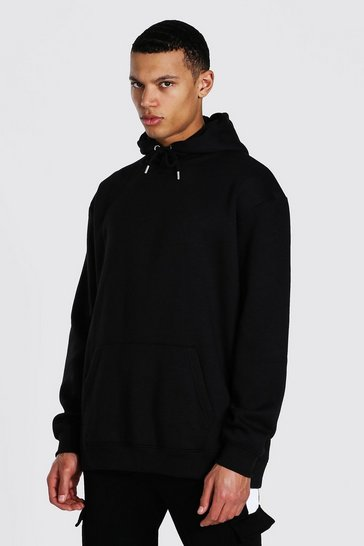 Black Tall Oversized Basic Hoodie