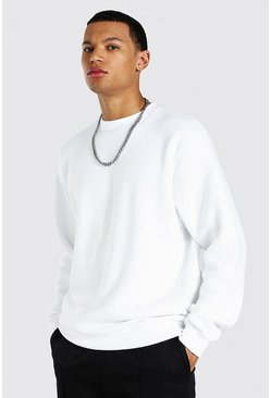 White Tall Basic Sweater