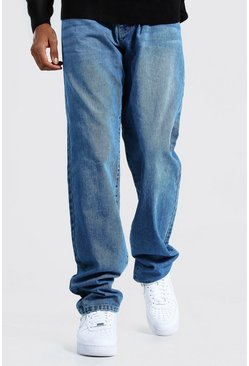 Mid blue blue Tall Relaxed Fit Jean