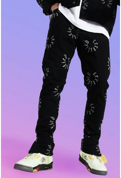 True black Skinny Rigid Certified Graphic Jean