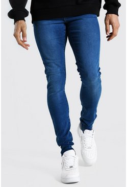 Mid blue blue Tall Super Skinny Jean
