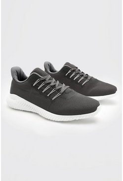 Grey Mesh Runner Trainer