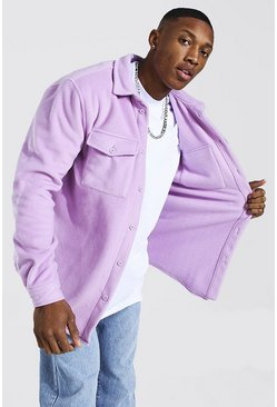 Lilac purple Man Official Fleece Overshirt
