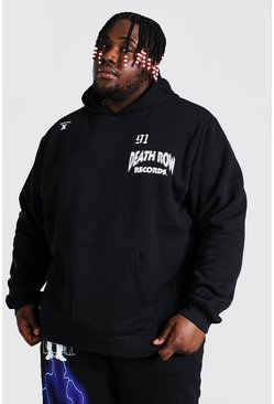 Black Plus Size Death Row Lightening License Hoodie