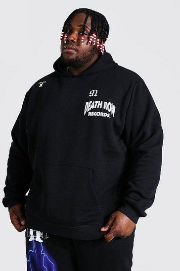 Black Plus Size Death Row Lightening License Hoodie