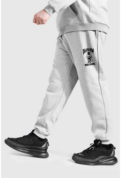 Grijs grey Plus Size Gelicenseerde Death Row Joggingbroek