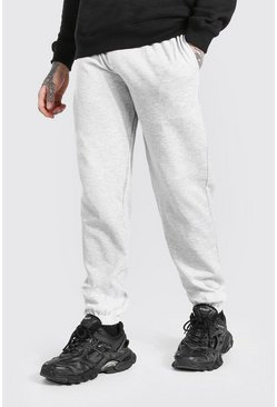 Grey marl Basic Regular Fit Joggers