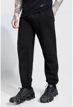 Black Basic Loose Fit Joggers