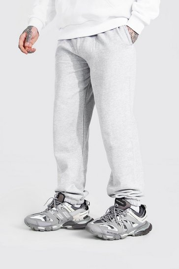 Grey marl grey Basic Loose Fit Joggers