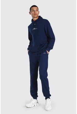 Navy Tall Man Signature Hooded Tracksuit