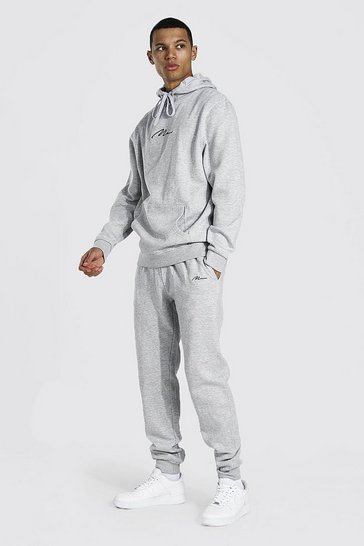 Grey marl grey Tall Man Signature Hooded Tracksuit