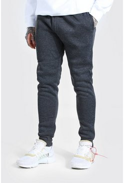 Charcoal grey Basic Regular Fit Marl Jogger