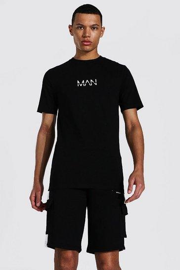 Black Tall Man Muscle Fit T-shirt