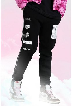 Black Man Graphic Printed Skinny Joggers
