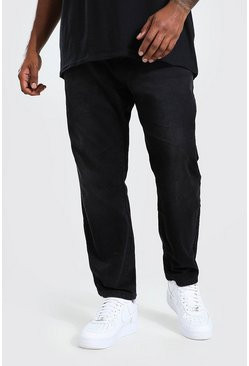 Washed black Plus Size Slim Fit Rigid Jean