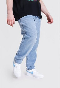Plus Size Slim Fit Rigid Jean, Washed blue bleu