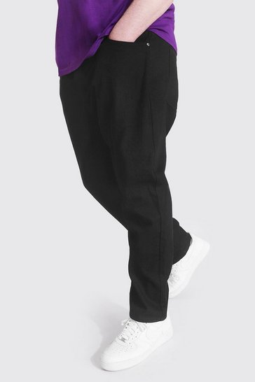 Black Plus Size Slim Fit Rigid Jean