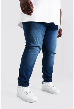 Plus Size Stretch Skinny Fit Jean, Antique blue