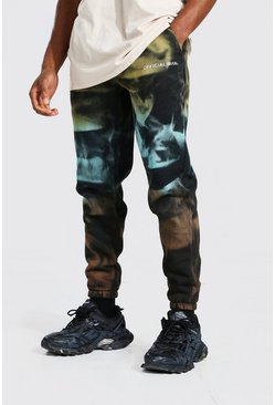 Jogging slim tie-dye - MAN Official, Black noir