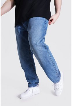 Plus Size Slim Fit Rigid Jean, Mid blue bleu