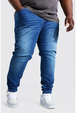 Plus Size Stretch Skinny Fit Jean, Mid blue bleu