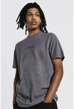 Charcoal grey Tall Overdye Man Signature T-Shirt