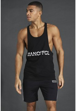 Black Man Active Racer Vest