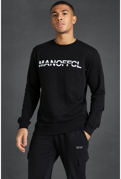 Black Man Active Gym Sweatshirt