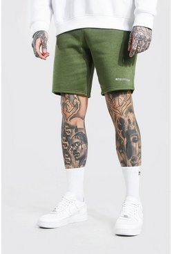 Short slim mi-long en jersey - MAN Official, Khaki kaki