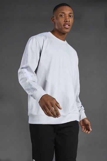 Grey Man Active Oversized Sweater With Tape Detail