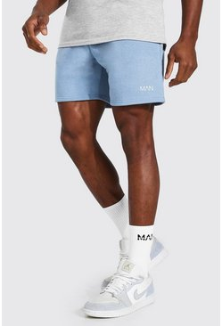 Blue Original Man Short Length Jersey Shorts