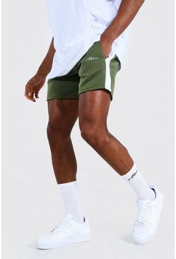 Khaki Man Signature Short Length Side Panel Shorts