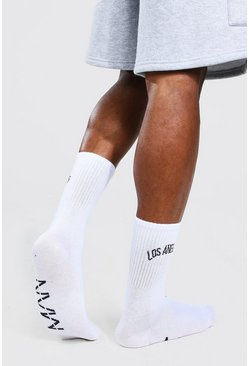 Multi 2 Pack Los Angeles Man Official Slogan Socks