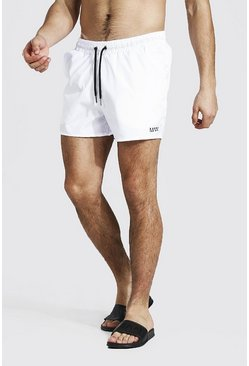 White Original Man Swim Short In Short Length