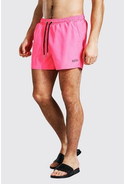 Short de bain court - MAN, Neon-pink rose