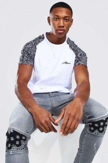 White Man Signature 3d Paisley Raglan T-Shirt