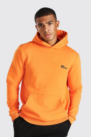 Orange Man Official Heavyweight Over The Head Hoodie
