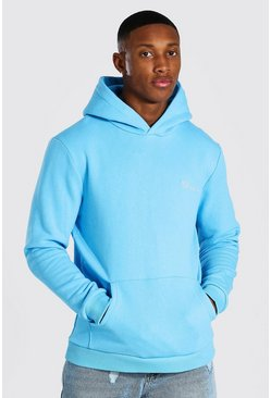 Bright blue blue Man Official Heavyweight Over The Head Hoodie